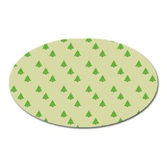Christmas Wrapping Paper Pattern Oval Magnet