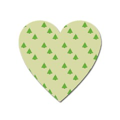 Christmas Wrapping Paper Pattern Heart Magnet