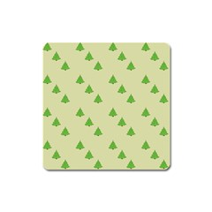 Christmas Wrapping Paper Pattern Square Magnet