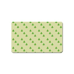 Christmas Wrapping Paper Pattern Magnet (Name Card)