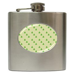 Christmas Wrapping Paper Pattern Hip Flask (6 Oz)