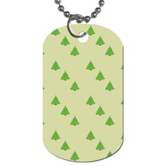 Christmas Wrapping Paper Pattern Dog Tag (two Sides)