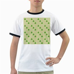 Christmas Wrapping Paper Pattern Ringer T Shirts