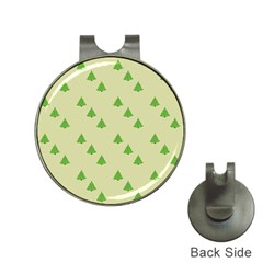 Christmas Wrapping Paper Pattern Hat Clips With Golf Markers