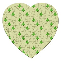 Christmas Wrapping Paper Pattern Jigsaw Puzzle (heart)