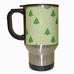 Christmas Wrapping Paper Pattern Travel Mugs (white)