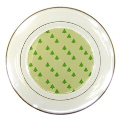 Christmas Wrapping Paper Pattern Porcelain Plates