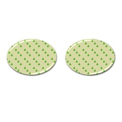 Christmas Wrapping Paper Pattern Cufflinks (oval)
