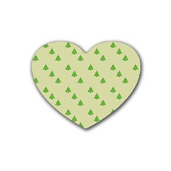 Christmas Wrapping Paper Pattern Heart Coaster (4 Pack)