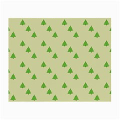 Christmas Wrapping Paper Pattern Small Glasses Cloth (2-Side)