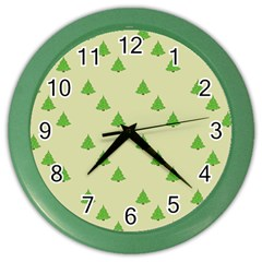 Christmas Wrapping Paper Pattern Color Wall Clocks