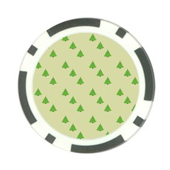 Christmas Wrapping Paper Pattern Poker Chip Card Guard