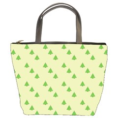 Christmas Wrapping Paper Pattern Bucket Bags