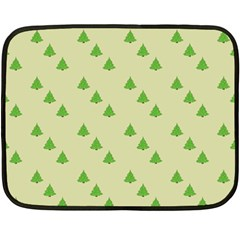 Christmas Wrapping Paper Pattern Fleece Blanket (Mini)