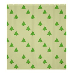 Christmas Wrapping Paper Pattern Shower Curtain 66  x 72  (Large)