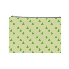 Christmas Wrapping Paper Pattern Cosmetic Bag (large)
