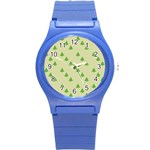 Christmas Wrapping Paper Pattern Round Plastic Sport Watch (S) Front