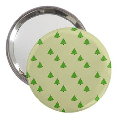 Christmas Wrapping Paper Pattern 3  Handbag Mirrors