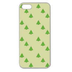 Christmas Wrapping Paper Pattern Apple Seamless Iphone 5 Case (clear)