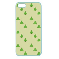 Christmas Wrapping Paper Pattern Apple Seamless Iphone 5 Case (color)