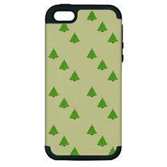 Christmas Wrapping Paper Pattern Apple Iphone 5 Hardshell Case (pc+silicone)