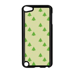 Christmas Wrapping Paper Pattern Apple Ipod Touch 5 Case (black)