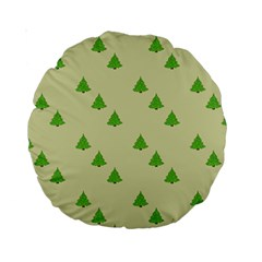 Christmas Wrapping Paper Pattern Standard 15  Premium Round Cushions