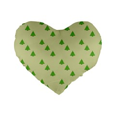 Christmas Wrapping Paper Pattern Standard 16  Premium Heart Shape Cushions