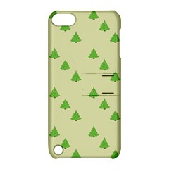 Christmas Wrapping Paper Pattern Apple Ipod Touch 5 Hardshell Case With Stand