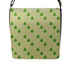 Christmas Wrapping Paper Pattern Flap Messenger Bag (l)