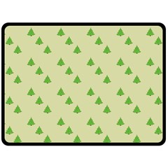 Christmas Wrapping Paper Pattern Double Sided Fleece Blanket (Large)