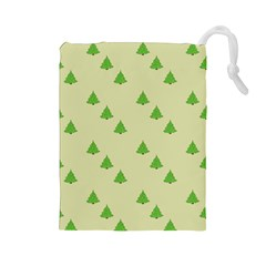 Christmas Wrapping Paper Pattern Drawstring Pouches (large)