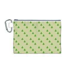 Christmas Wrapping Paper Pattern Canvas Cosmetic Bag (m)
