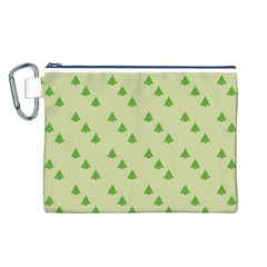 Christmas Wrapping Paper Pattern Canvas Cosmetic Bag (l)