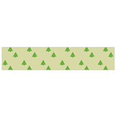 Christmas Wrapping Paper Pattern Flano Scarf (Small)