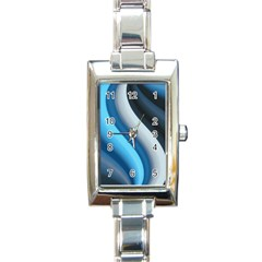 Abstract Pattern Lines Wave Rectangle Italian Charm Watch