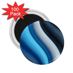 Abstract Pattern Lines Wave 2 25  Magnets (100 Pack)