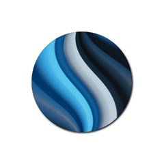 Abstract Pattern Lines Wave Rubber Coaster (round)
