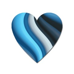 Abstract Pattern Lines Wave Heart Magnet