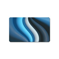 Abstract Pattern Lines Wave Magnet (name Card)