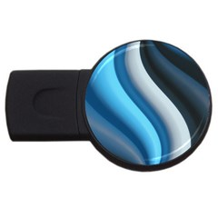 Abstract Pattern Lines Wave USB Flash Drive Round (1 GB)
