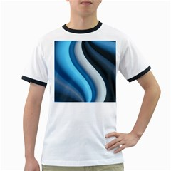 Abstract Pattern Lines Wave Ringer T Shirts