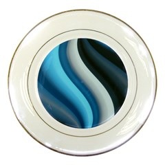 Abstract Pattern Lines Wave Porcelain Plates