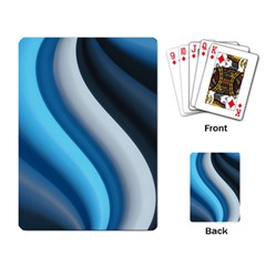 Abstract Pattern Lines Wave Playing Card