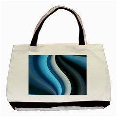 Abstract Pattern Lines Wave Basic Tote Bag