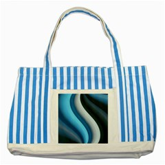 Abstract Pattern Lines Wave Striped Blue Tote Bag