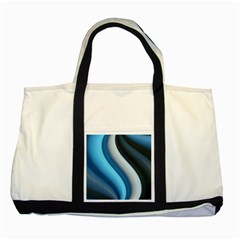 Abstract Pattern Lines Wave Two Tone Tote Bag