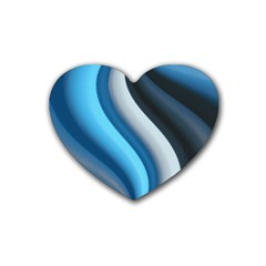 Abstract Pattern Lines Wave Rubber Coaster (heart)
