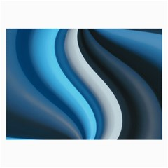 Abstract Pattern Lines Wave Large Glasses Cloth (2-Side)