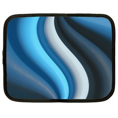 Abstract Pattern Lines Wave Netbook Case (large)